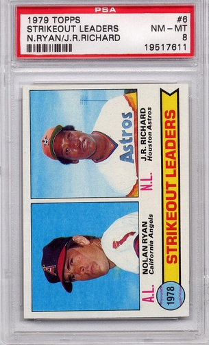 1979 Topps Strikeout Leaders #6 PSA 8