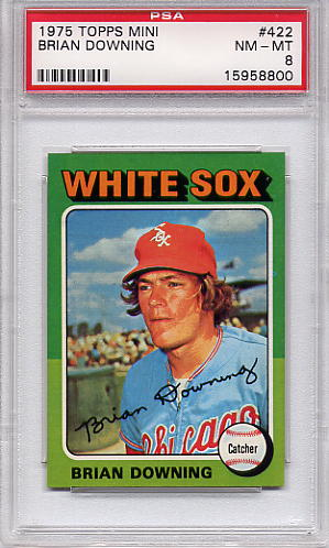 1975 Topps Mini Brian Downing #422 PSA 8