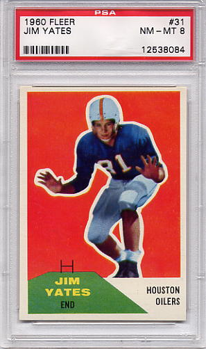 1960 Fleer Jim Yates #31 PSA 8