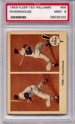 1959 Fleer Ted Williams - Powerhouse #66 PSA 9