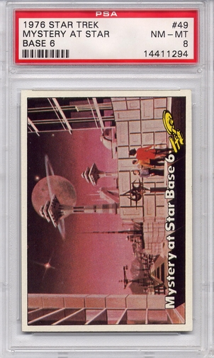 1976 Star Trek - Mystery At Star Base 6 #49 PSA 8