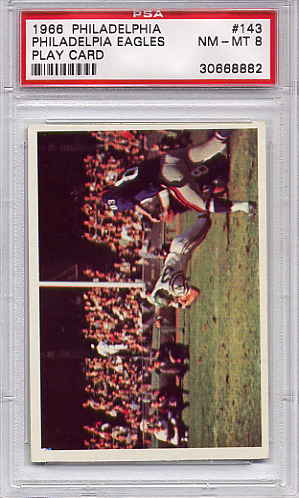 1966 Philadelphia - Eagles Play Card #143 PSA 8