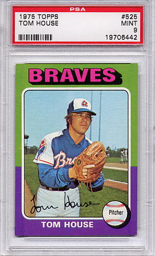 1975 Topps Tom House #525 PSA 9