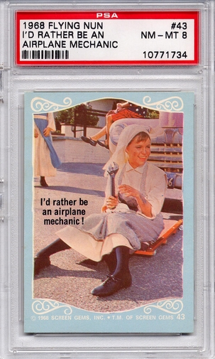 1968 Flying Nun - I'd Rather Be An Airplane Mechanic #43 PSA 8