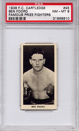 1938 F.C. Cartledge - Boxing - Ben Foord #45 PSA 8
