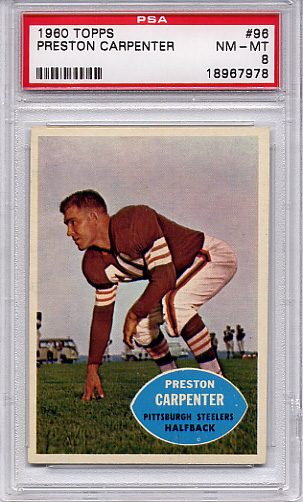 1960 Topps Preston Carpenter #96 PSA 8