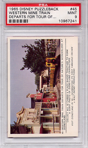 1965 Disney Puzzleback - Western Mine Train Departs #45 PSA 9