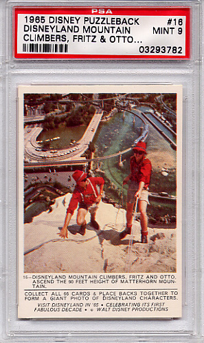 1965 Disney Puzzleback - Disneyland Mountain #16 PSA 9
