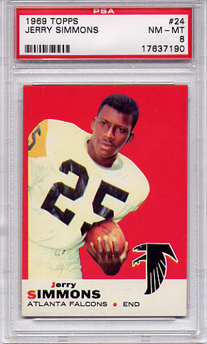 1969 Topps Jerry Simmons #24 PSA 8