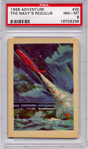 1956 Adventure - The Navy's Regulus #25 PSA 8