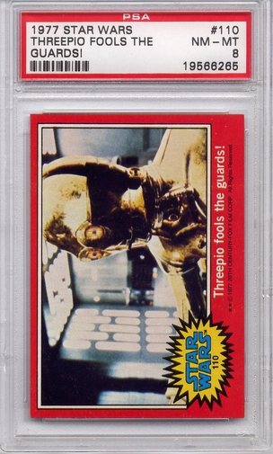 1977 Star Wars - Threepio Fools The Guards! #110 PSA 8