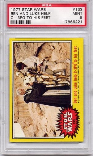 1977 Star Wars - Ben And Luke Help C-3PO #133 PSA 9