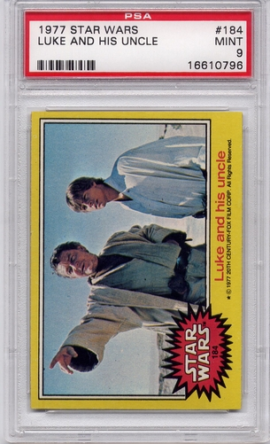 1977 Star Wars - Luke And His Uncle #184 PSA 9
