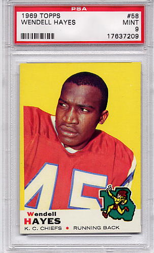 1969 Topps Wendell Hayes #58 PSA 9