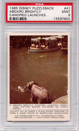 1965 Disney Puzzleback - Aboard Brightly Canopied #41 PSA 9
