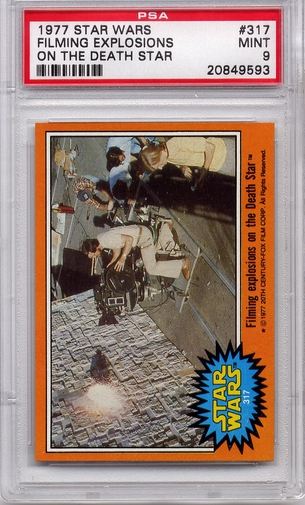 1977 Star Wars - Filming Explosions On The Death Star #317 PSA 9