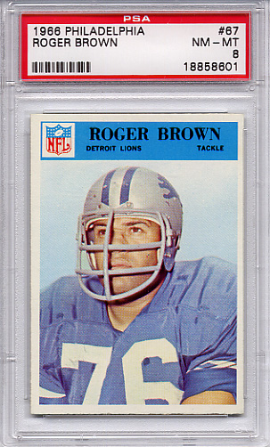 1966 Philadelphia Roger Brown #67 PSA 8