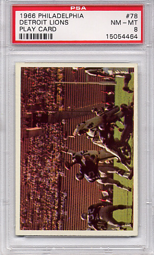 1966 Philadelphia Detroit Lions Play Card #78 PSA 8