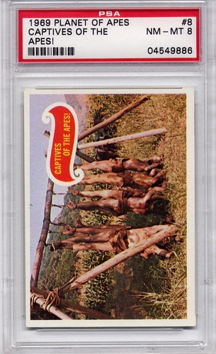 1969 Planet Of The Apes - Captives Of The Apes! #8 PSA 8