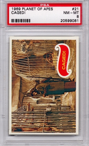 1969 Planet Of The Apes - Caged! #21 PSA 8