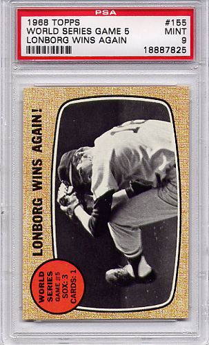 1968 Topps World Series Game 5 #155 PSA 9