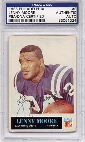 Lenny Moore PSA/DNA Certified Authentic Autograph