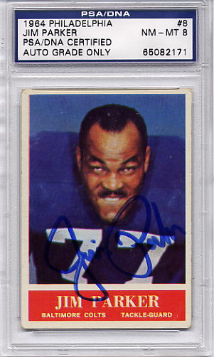 Jim Parker PSA/DNA Certified Authentic Autograph