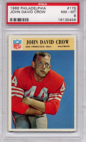 1966 Philadelphia John David Crow #175 PSA 8