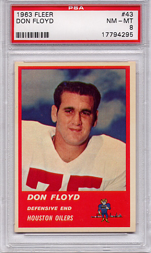 1963 Fleer Don Floyd #43 PSA 8