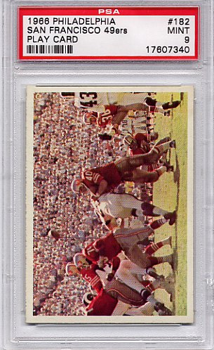 1966 Philadelphia - 49ers Play Card #182 PSA 9 None Higher