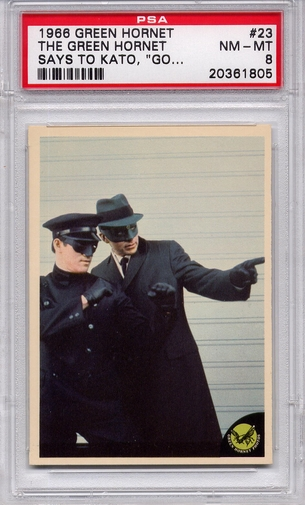 1966 Green Hornet - The Green Hornet Says To Kato #23 PSA 8