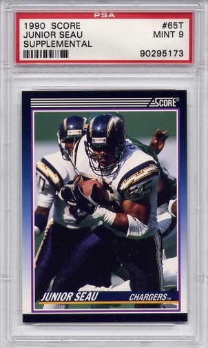 1990 Score Supplemental Junior Seau #65T PSA 9