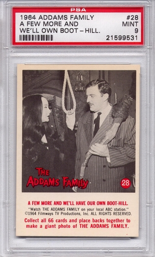 1964 Addams Family - A Few More And We'll Own Boot-Hill #28 PSA 9