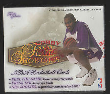 1999/00 FLEER FLAIR SHOWCASE BASKETBALL HOBBY BOX (CARTER KOBE MASTERPIECES )