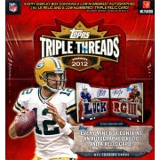 2012 TOPPS TRIPLE THREADS FOOTBALL HOBBY 9CT CASE