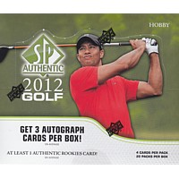 2012 UPPER DECK SP AUTHENTIC GOLF HOBBY 12CT CASE