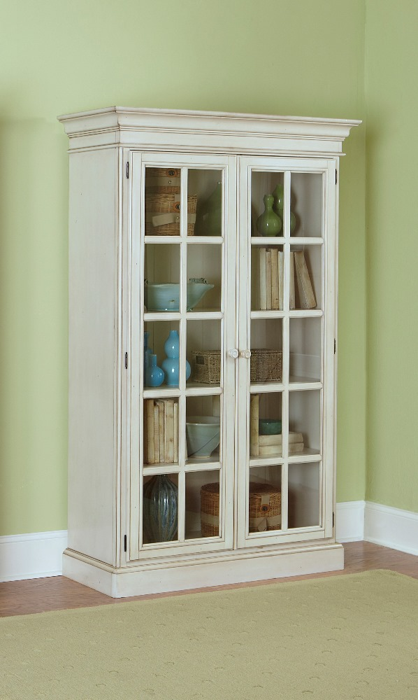 Hillsdale Pine Island Large Library Cabinet Old White - 5...