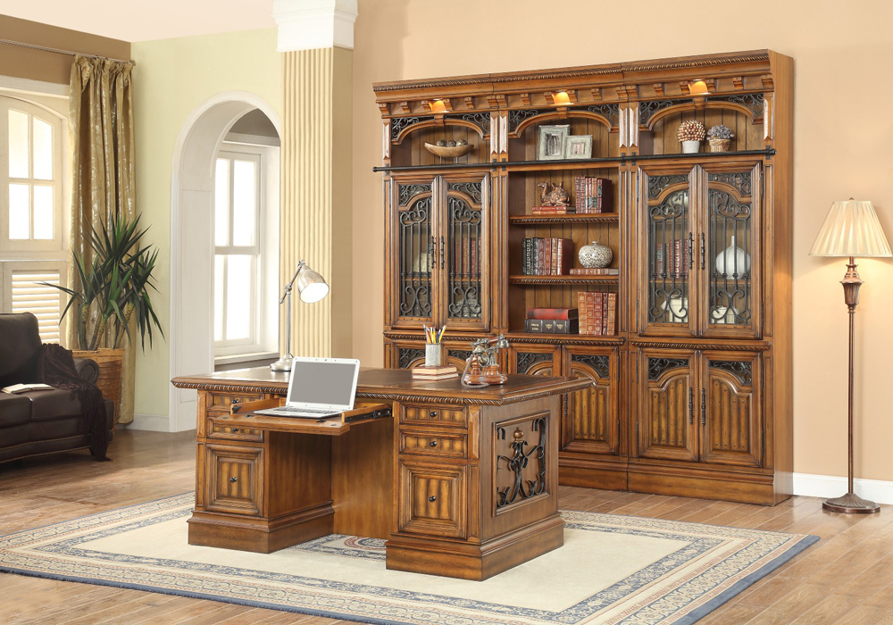 Parker House Barcelona 3PC Library With Executive Desk Wa...