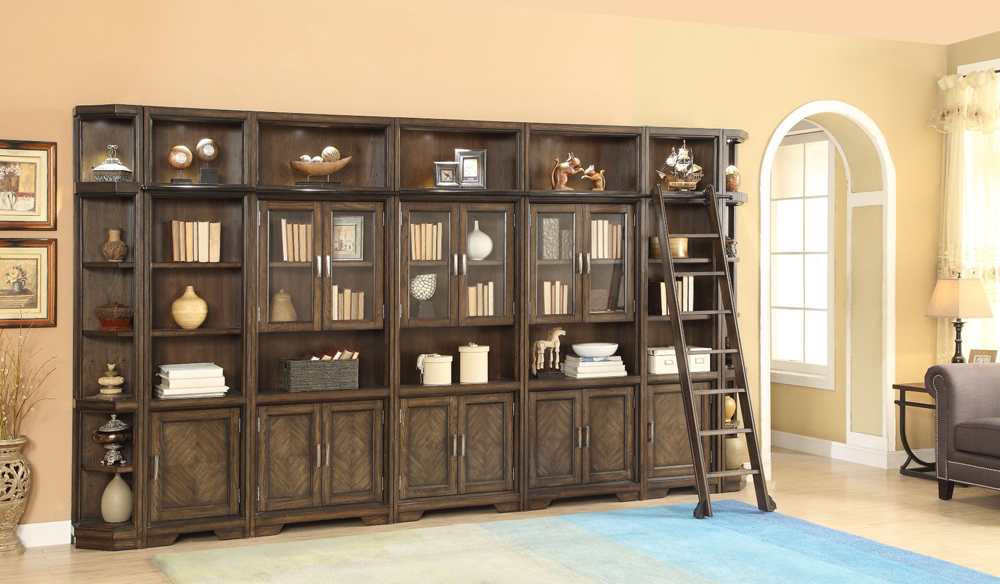 Parker House Meridien 9PC Bookcase With Glass Doors Wall ...