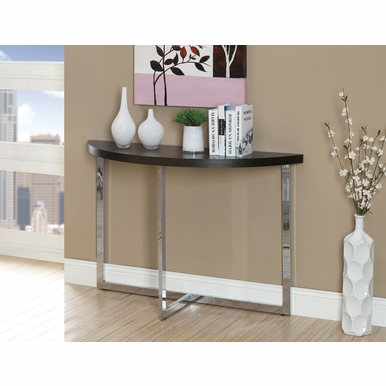 Monarch Specialties - Console Table 48L Cappuccino Chrome Metal - I-3039