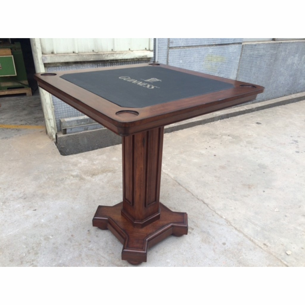 ECI Furniture   Guinness Complete Distressed Walnut Pub Game Table    1235 35 PGT/PGB