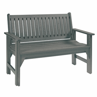 CR Plastic Products - Generations Garden Bench in Slate - B01-18