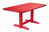 CR Plastic Products - Generations Double Pedestal Dining Table (Base included) in Red - T11-01