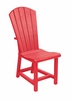 CR Plastic Products - Generations Dining Adirondack Style Side Chair in Red - C11-01