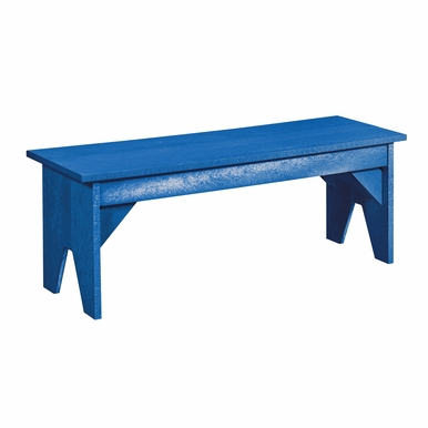 CR Plastic Products - Generations Lifestyle Outdoor Bench in Blue - B02-03