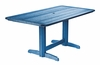 CR Plastic Products - Generations Double Pedestal Dining Table (Base included) in Blue - T11-03