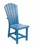 CR Plastic Products - Generations Dining Adirondack Style Side Chair in Blue - C11-03