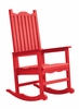 CR Plastic Products - Generations Casual Porch Rocker in Red - C05-01