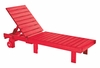 CR Plastic Products - Generations Chaise Lounge with wheels in Red - L78-01