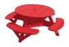 """CR Plastic Products - Generations 51"""" Round Picnic Table - Color Frame in Red - T50-01"""